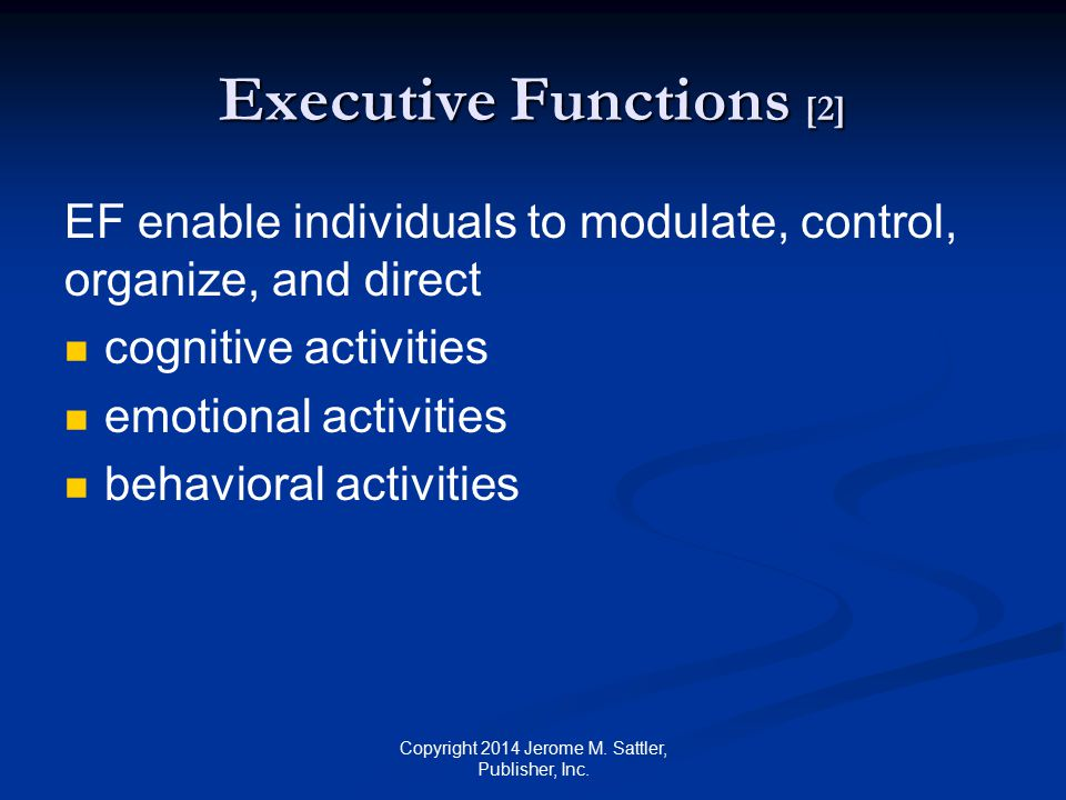Executive Functions [2]